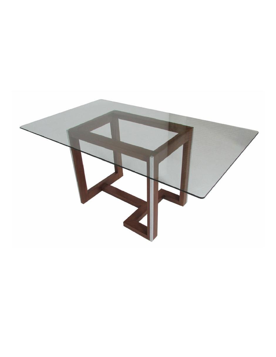 Annika mesa rectangular contempor nea nogal for Comedores cyber monday